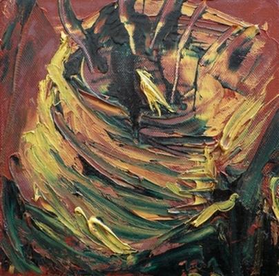 Ik wist niet... schilderij Rose Verkerk