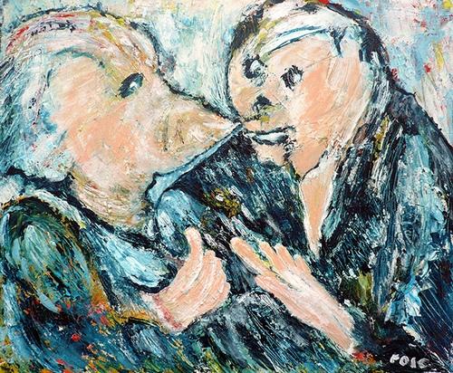 vrienden schilderij Rose Verkerk