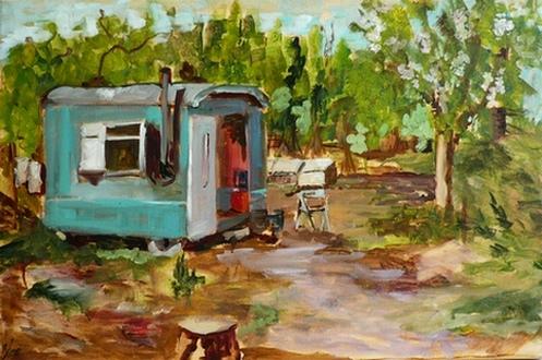 schilderij van Leida Blom