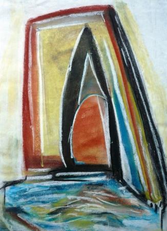 Open deuren schilderij door Rose Verkerk