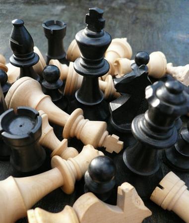De keuze schaakbord foto Peter Zwerus