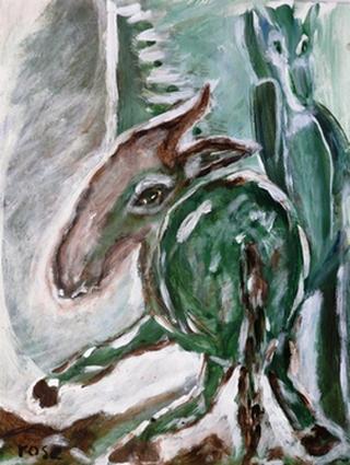 Ezels schilderij Rose Verkerk